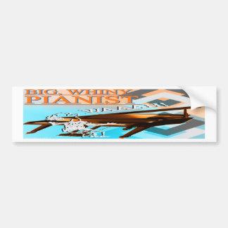 Big Whiny Pianist Bumper Sticker Cyan Orange