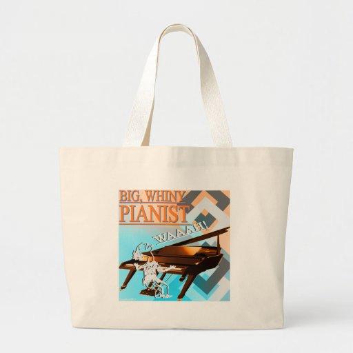Big Whiny Pianist Cyan & Orange Bag