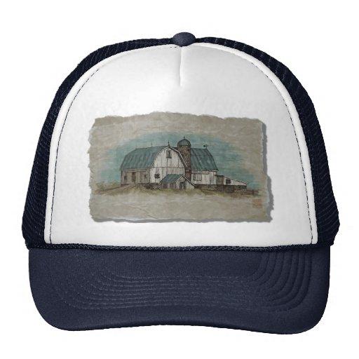 Big White Amish Barn Trucker Hat