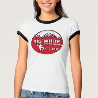 Big White British Columbia red theme ladies tee