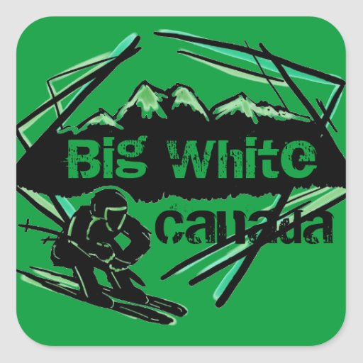 Big White Canada ski stickers