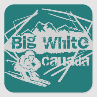 Big White Canada ski teal stickers