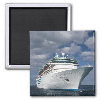 Big White Cruise Ship Refrigerator Magnet