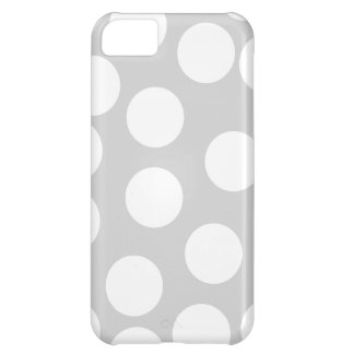 Big white dots on gray background. iPhone 5C case