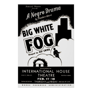 Big White Fog Vintage Theater Poster