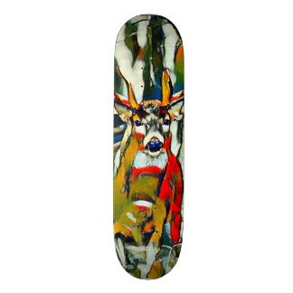 Big Whitetail Buck Outdoors Acrylic Park Board Custom Skateboard