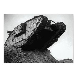 """Big World War I Tank Mk IV Female F4 Flirt II 3.5"""" X 5"""" Invitation Card"""