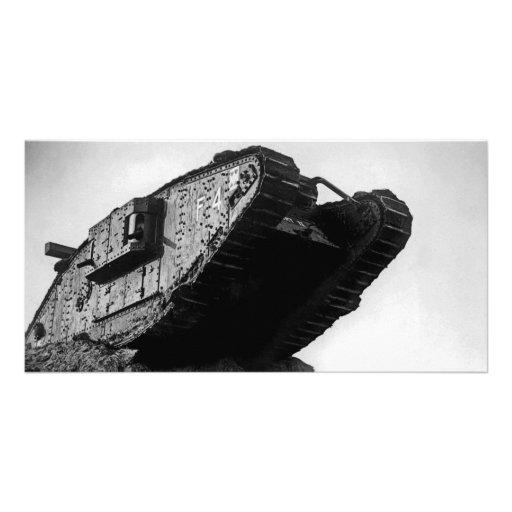 Big World War I Tank Mk IV Female F4 Flirt II Custom Photo Card