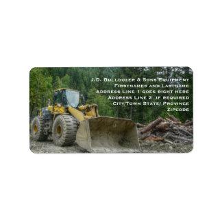 Big Yellow Bulldozer Tractor Heavy Equipment
