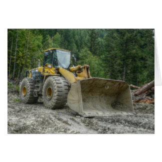 Big Yellow Bulldozer Tractor Heavy Equipment Greeting Card