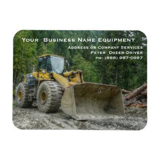 Big Yellow Bulldozer Tractor Heavy Equipment Flexible Magnets