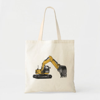 Big Yellow Excavator Tote Bag