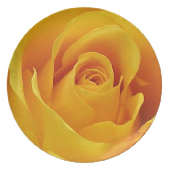 Big Yellow Rose Plate