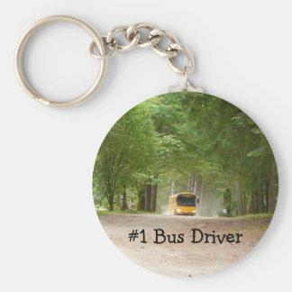 Big Yellow School Bus Basic Round Button Keychain