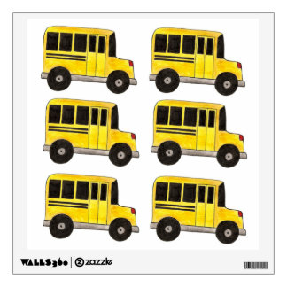 Big Yellow School Bus Buses Teacher Wall Decal