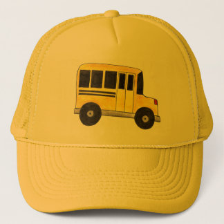 Big Yellow School Bus Driver Buses Teacher Hat
