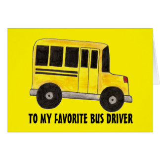 Big Yellow School Bus Driver Education Card