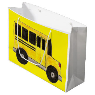 Big Yellow School Bus Driver Teacher Education Large Gift Bag
