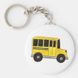 Big Yellow School Bus Driver Teacher Gift Keychain