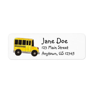 Big Yellow School Bus Driver Teacher Labels