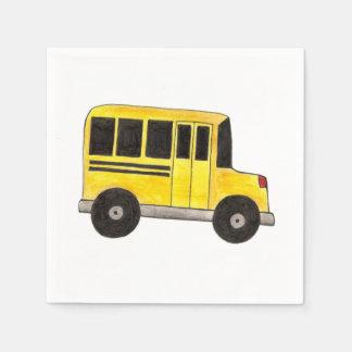 Big Yellow School Bus Driver Teacher Napkins Paper Napkin