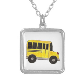 Big Yellow School Bus Driver Teacher Necklace
