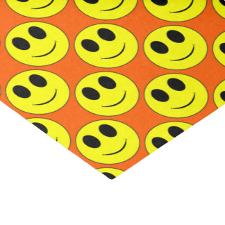 Big Yellow Smiley Allover Orange-Tissue Wrap Paper