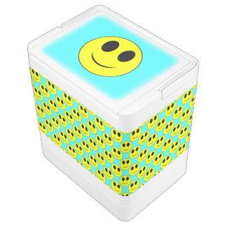 Big Yellow Smiley, Aqua-24 can Igloo Cooler