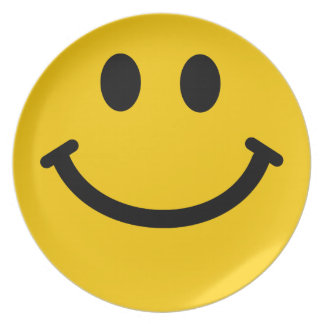 Big Yellow Smiley Face Plate