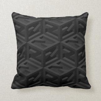 Big Z Cube Isometric Reversible Throw Pillow