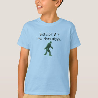Bigfoot Ate My Homework. T-Shirt