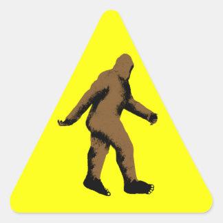 Bigfoot  Attention Triangle Sticker