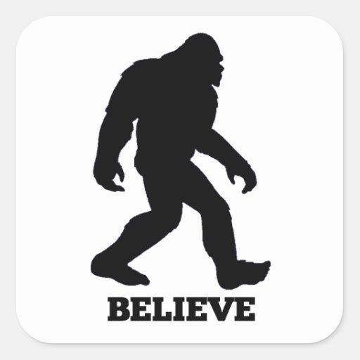 Bigfoot BELIEVE Sasquatch Sticker