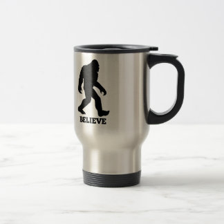 Bigfoot BELIEVE Sasquatch Travel Mug