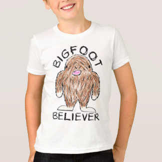 BIGFOOT BELIEVER - Fun Sasquatch Crayon Sketch T-Shirt