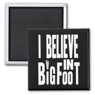 Bigfoot Believer - White Text for Dark Colors Magnet