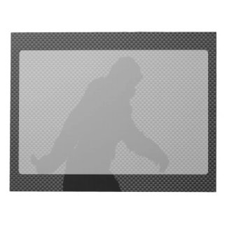 Bigfoot Black Silhouette Carbon Fiber Style Notepads