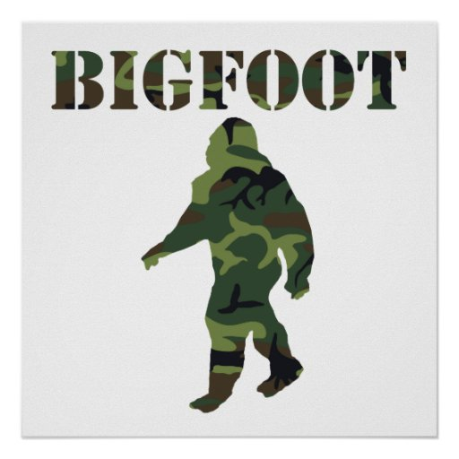 Bigfoot Camouflage Poster