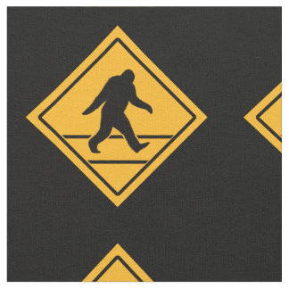 Bigfoot Crossing Pattern Fabric