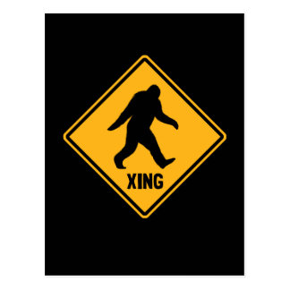 Bigfoot Crossing Sign Postcard