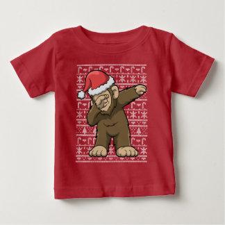 Bigfoot Dabbing Squatch Christmas Baby T-Shirt