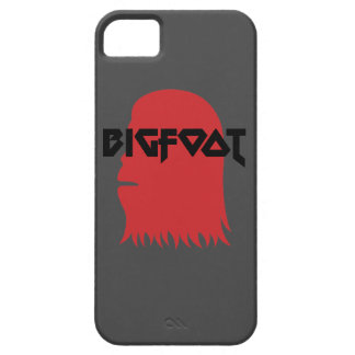 Bigfoot Face and Text - Red and Black Stencil iPhone 5 Cases