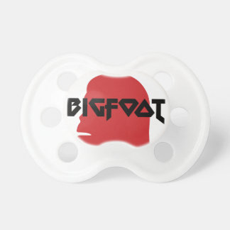Bigfoot Face and Text - Red and Black Stencil Pacifier