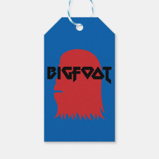 Bigfoot Face and Text - Red and Black Stencil Pack Of Gift Tags