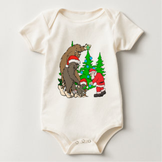 Bigfoot family  and Santa Baby Bodysuit
