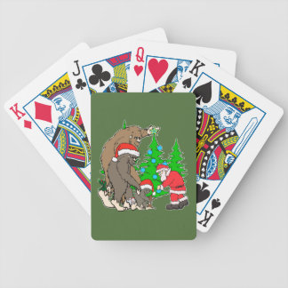 Bigfoot family  and Santa Bicycle Playing Cards