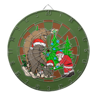 Bigfoot family  and Santa Dartboard