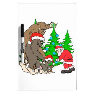 Bigfoot family  and Santa Dry Erase Board