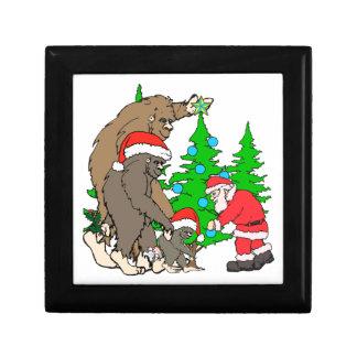 Bigfoot family  and Santa Gift Box