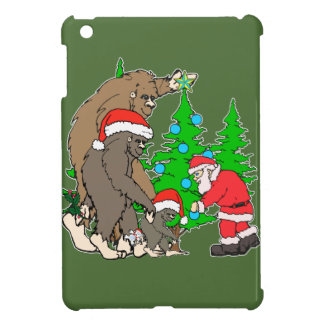 Bigfoot family  and Santa iPad Mini Cover